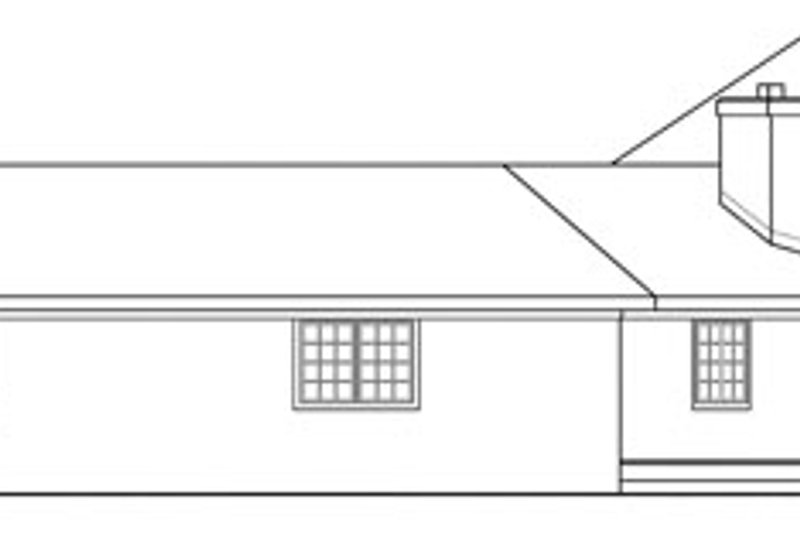 Ranch Exterior - Other Elevation Plan #124-729 - Houseplans.com