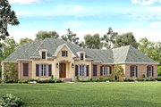 European Style House Plan - 4 Beds 3 Baths 3527 Sq/Ft Plan #430-128