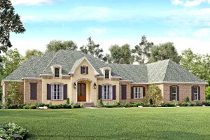 European Exterior - Front Elevation Plan #430-128