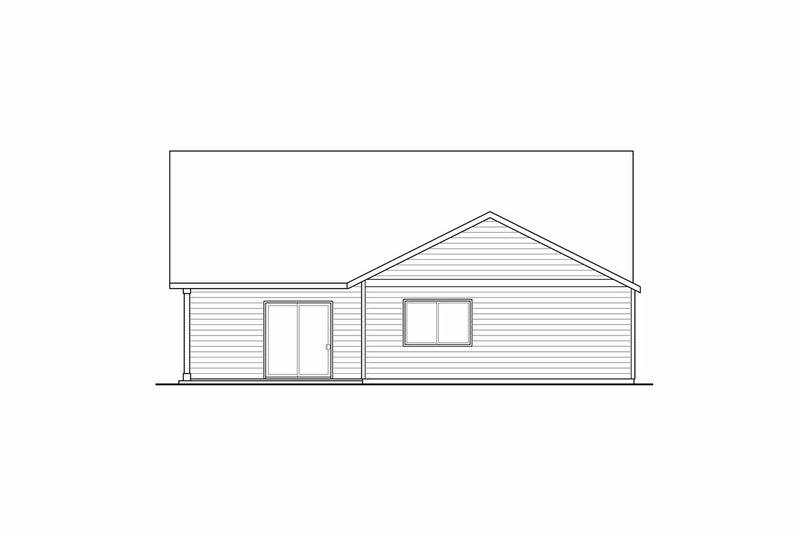 Craftsman Exterior - Rear Elevation Plan #124-899 - Houseplans.com