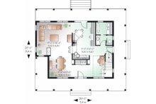 Traditional Floor Plan - Main Floor Plan Plan #23-822
