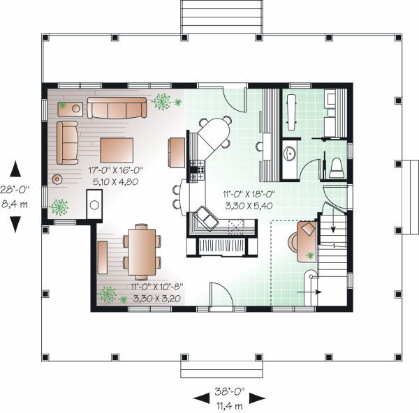 Traditional Floor Plan - Main Floor Plan Plan #23-822