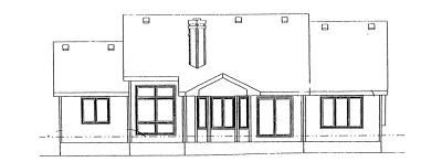 Traditional Exterior - Rear Elevation Plan #20-619 - Houseplans.com