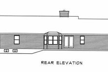 House Plan Design - Ranch Exterior - Rear Elevation Plan #22-110