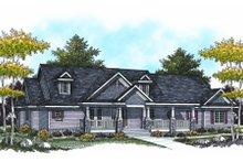 Dream House Plan - Bungalow Exterior - Front Elevation Plan #70-951