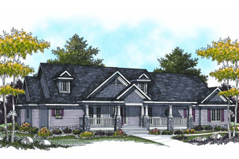 Bungalow Exterior - Front Elevation Plan #70-951