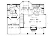 Craftsman Style House Plan - 1 Beds 1 Baths 1029 Sq/Ft Plan #456-12 Floor Plan - Upper Floor Plan