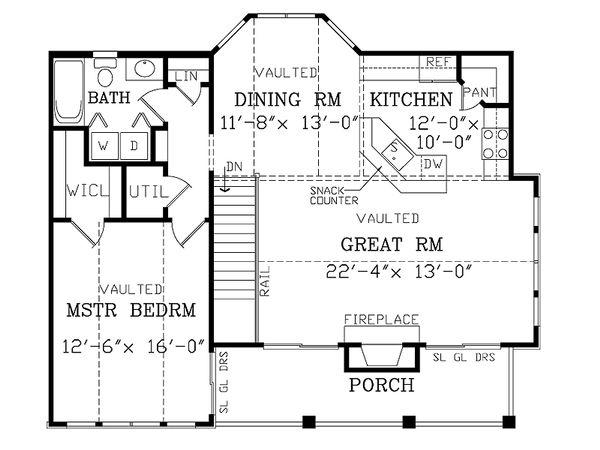 Craftsman Floor Plan - Upper Floor Plan Plan #456-12