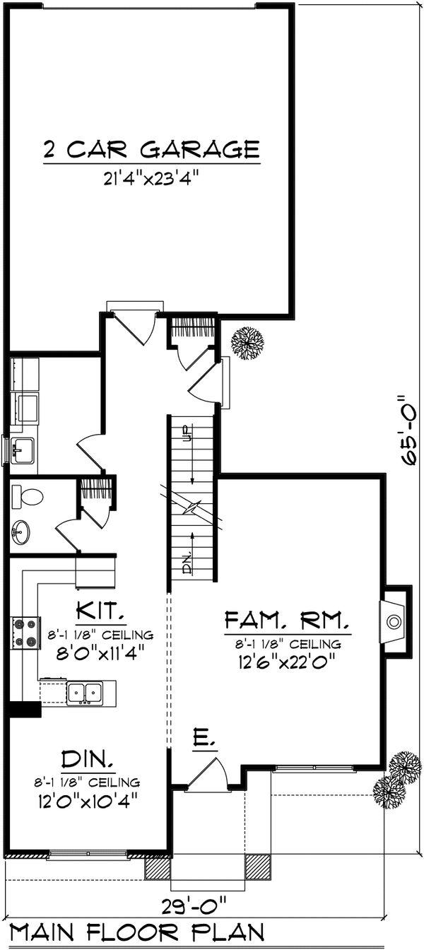 Traditional Floor Plan - Main Floor Plan Plan #70-1029