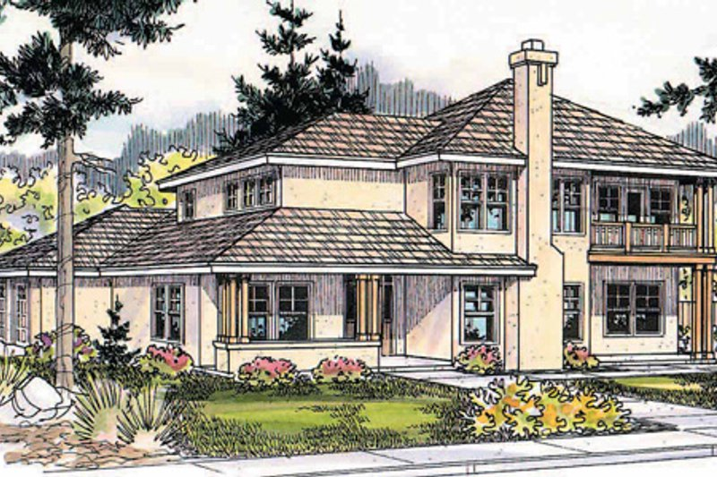 Craftsman Exterior - Front Elevation Plan #124-459
