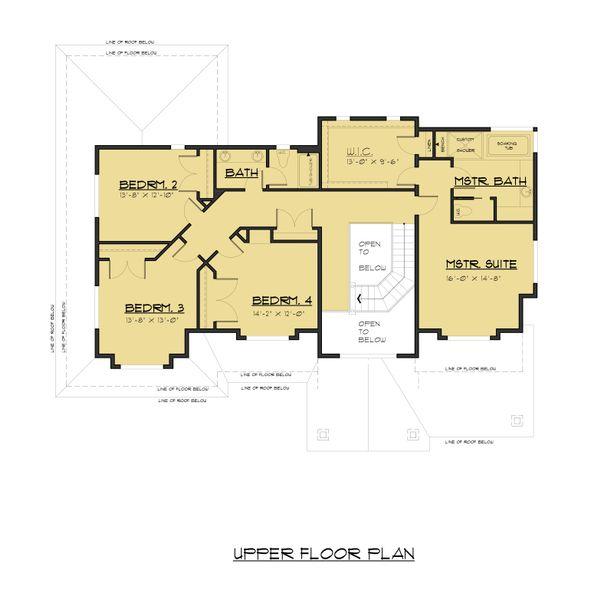 Home Plan - Traditional Floor Plan - Upper Floor Plan #1066-68