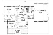Traditional Style House Plan - 4 Beds 3.5 Baths 2198 Sq/Ft Plan #513-2171 Floor Plan - Main Floor