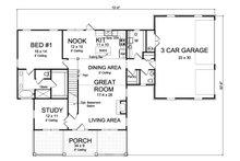 Traditional Floor Plan - Main Floor Plan Plan #513-2171