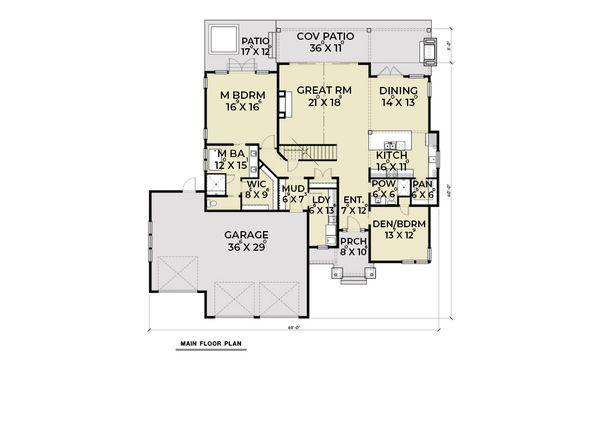 Dream House Plan - Craftsman Floor Plan - Main Floor Plan #1070-101