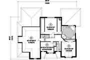 European Style House Plan - 3 Beds 2 Baths 3851 Sq/Ft Plan #25-4782 Floor Plan - Upper Floor Plan