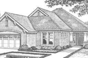 European Exterior - Front Elevation Plan #310-306