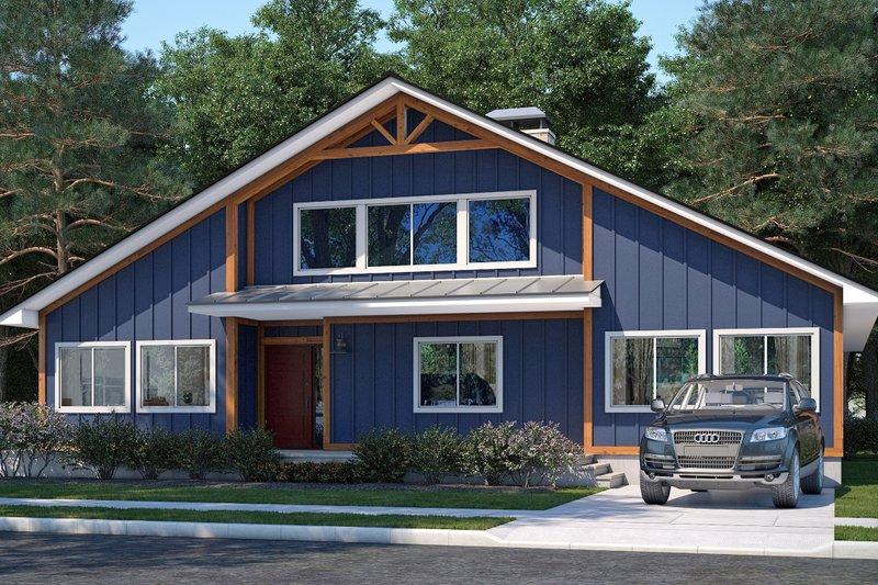 Architectural House Design - Craftsman Exterior - Front Elevation Plan #1073-18