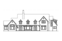 Home Plan - European Exterior - Rear Elevation Plan #48-120