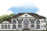 Classical Style House Plan - 5 Beds 7 Baths 5699 Sq/Ft Plan #119-363 Exterior - Front Elevation
