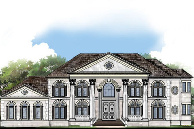 Classical Exterior - Front Elevation Plan #119-363 - Houseplans.com