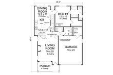 Cottage Floor Plan - Main Floor Plan Plan #513-2088