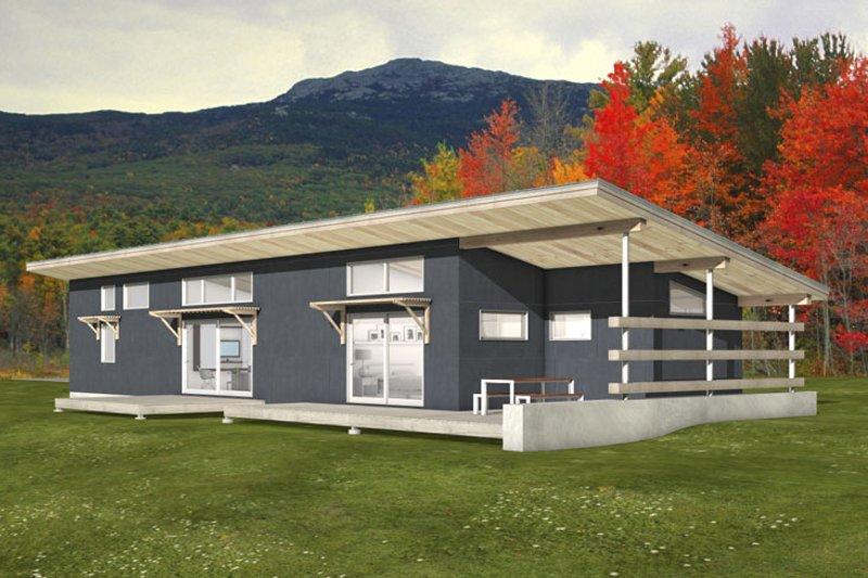 Home Plan - Modern floor plan, Front elevation