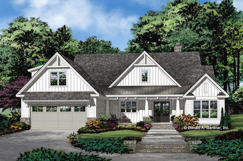 Architectural House Design - Farmhouse Exterior - Front Elevation Plan #929-1099