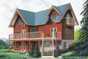 chalet house plans - floorplans