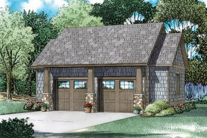 Craftsman Exterior - Front Elevation Plan #17-2579
