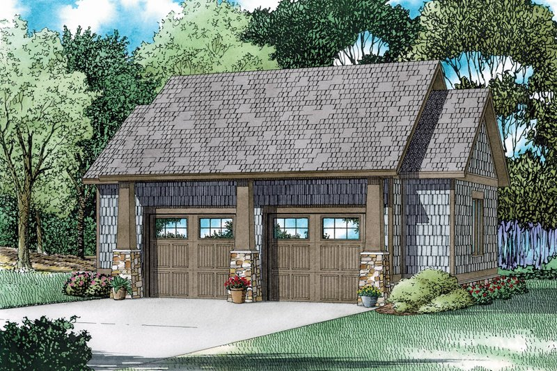 Craftsman Style House Plan - 0 Beds 0 Baths 839 Sq/Ft Plan #17-2579 Exterior - Front Elevation