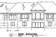 European Style House Plan - 4 Beds 3.5 Baths 4681 Sq/Ft Plan #51-191 Exterior - Rear Elevation