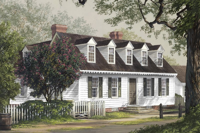 Colonial Style House Plan - 3 Beds 2.5 Baths 2968 Sq/Ft Plan #137-281 Exterior - Front Elevation