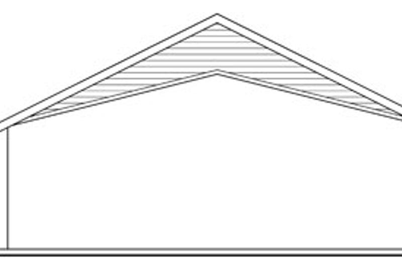 Traditional Exterior - Rear Elevation Plan #124-799 - Houseplans.com