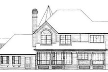 House Blueprint - Victorian Exterior - Rear Elevation Plan #72-149