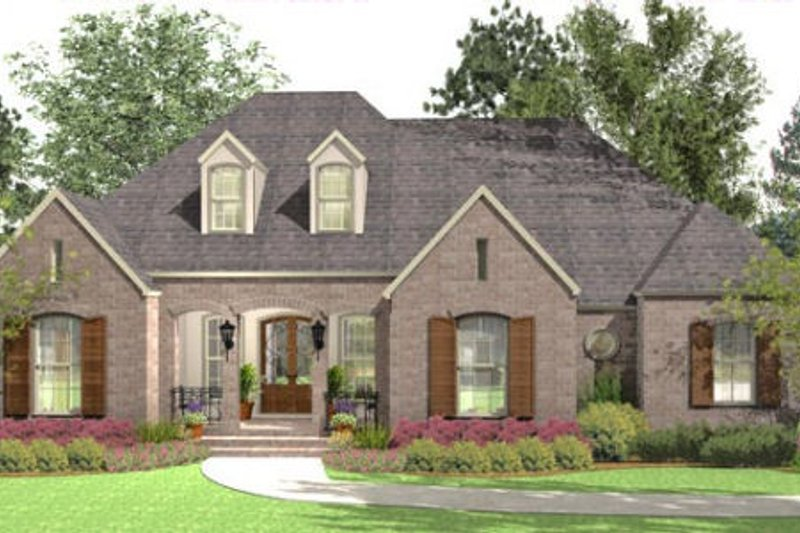 European Exterior - Front Elevation Plan #406-9613 - Houseplans.com