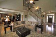 Craftsman Style House Plan - 4 Beds 3 Baths 2644 Sq/Ft Plan #927-25 Interior - Family Room