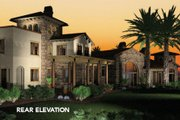 Mediterranean Style House Plan - 5 Beds 5 Baths 6484 Sq/Ft Plan #48-361 Exterior - Other Elevation
