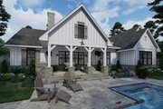 Farmhouse Style House Plan - 4 Beds 2 Baths 2459 Sq/Ft Plan #120-265 Exterior - Rear Elevation