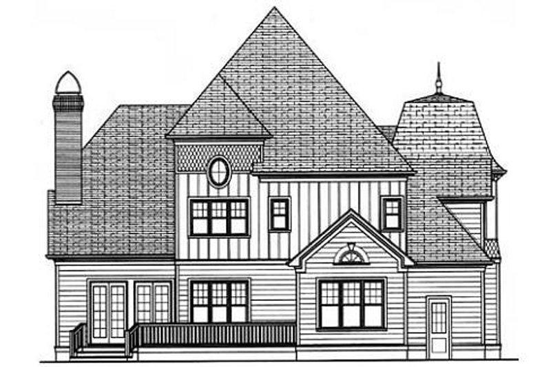 Victorian Exterior - Rear Elevation Plan #413-142 - Houseplans.com