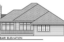 Home Plan - European Exterior - Rear Elevation Plan #70-859