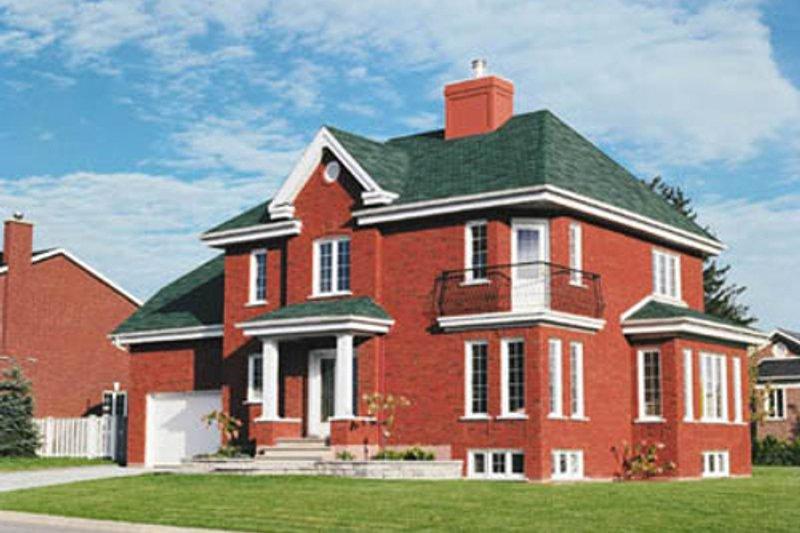 Home Plan - European Exterior - Front Elevation Plan #23-2086