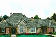 European Style House Plan - 4 Beds 3.5 Baths 3116 Sq/Ft Plan #310-1290