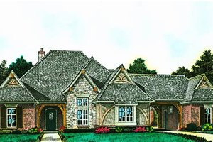 European Exterior - Front Elevation Plan #310-1290