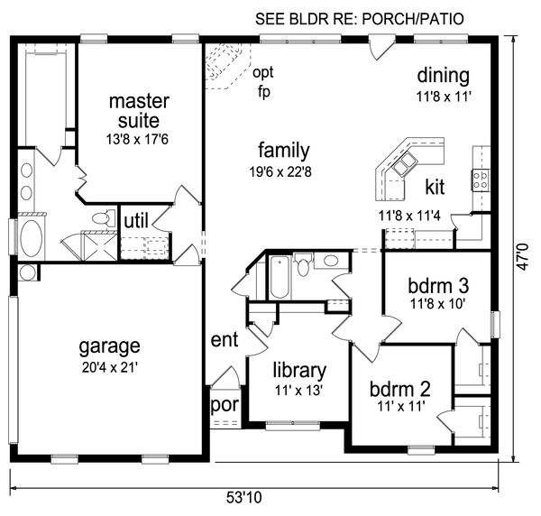 Traditional Floor Plan - Main Floor Plan Plan #84-604