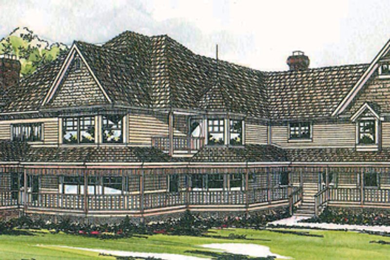 Farmhouse Style House Plan - 5 Beds 4.5 Baths 6051 Sq/Ft Plan #124-111 Exterior - Front Elevation