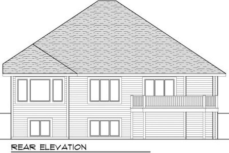 Craftsman Exterior - Rear Elevation Plan #70-999 - Houseplans.com
