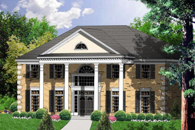 Colonial Exterior - Front Elevation Plan #40-190