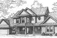 Home Plan - Farmhouse Exterior - Front Elevation Plan #310-614