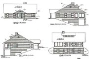 Traditional Style House Plan - 4 Beds 2.5 Baths 2338 Sq/Ft Plan #117-292 Exterior - Rear Elevation