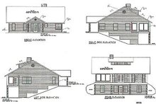 Architectural House Design - Traditional Exterior - Rear Elevation Plan #117-292